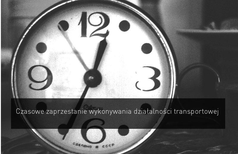 zawieszenie dzialalnosci transportowej